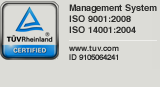 Management System ISO 9001:2008 - ISO 14001:2004